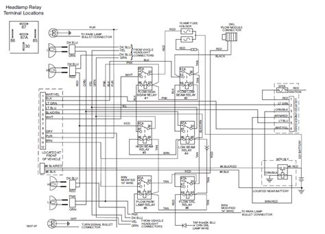western plow headlight wiring diagram get free image