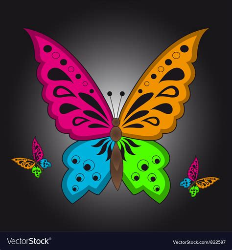 colorful butterfly colorful butterfly royalty free vector image vectorstock