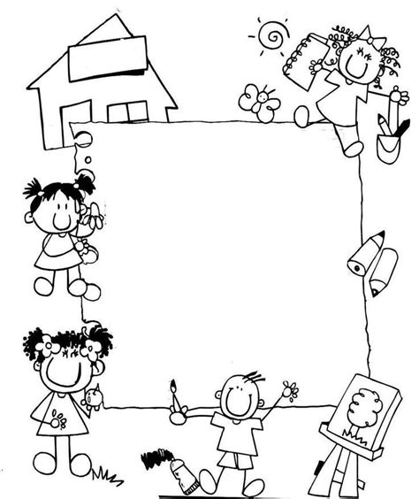 imagenes educativas p gina 8 de 52 recopilaci n de las m s bordes escolares en blanco y negro buscar con google