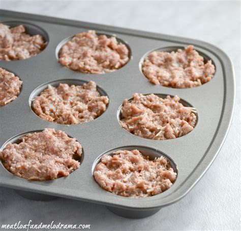 mini meatloaf in muffin pan cheddar barbecue meatloaf muffins meatloaf and melodrama