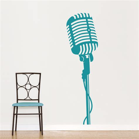 stripe wall stickers microphone wall decal