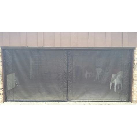 9 by 7 garage door fresh air screens 9 ft x 7 ft 2 zipper garage door