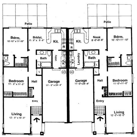 Symmetrical House Plans by Two Bedroom House Plans For Small Land Two Bedroom House