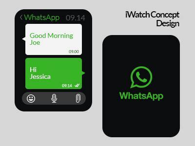 change app layout on iwatch whatsapp iwatch concept design on behance