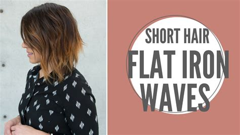 how do you use straighteners on a short side fringe short hair flat iron waves youtube