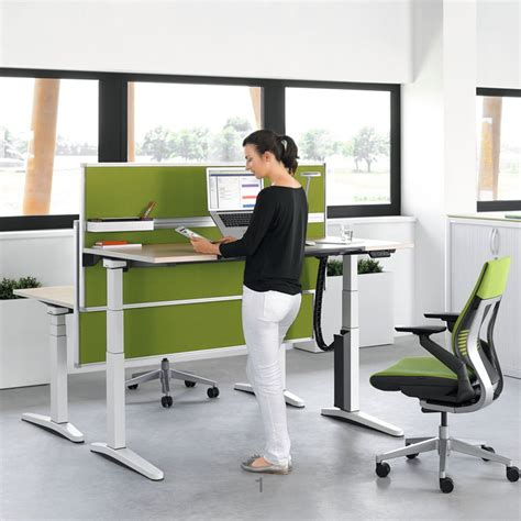height adjustable desks uk steelcase ology height adjustable desks office desks