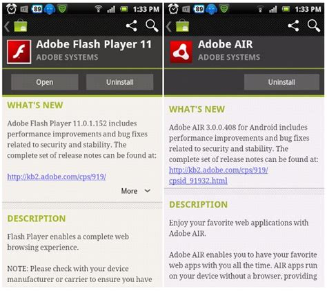 adobe for android adobe flash player 11 and air 3 now available for android