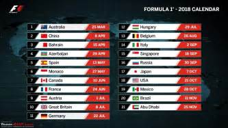 Calendario 2018 Formula 1 Formula 1 The 2018 Season Team Bhp