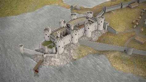 3d Design Kitchen conwy castle lost in castles