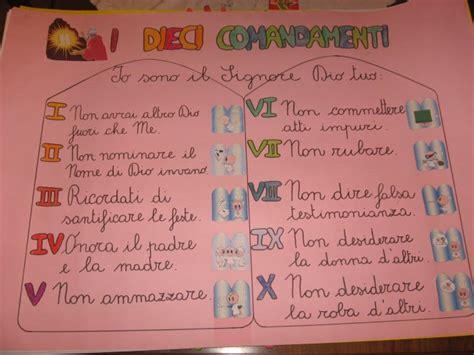 tavole dei 10 comandamenti nel giardino degli angeli catechismo cartelloni