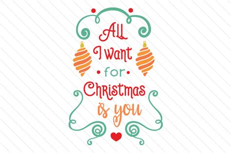 All I Want For by All I Want For Is You Svg Cut File By Creative