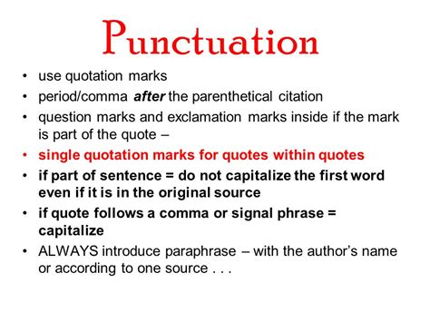 do you always put end punctuation inside quotation marks the term paper mla style ppt video online download