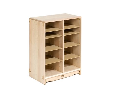 tote storage shelves communityplaythings f695 2 x 32 tote shelf without totes
