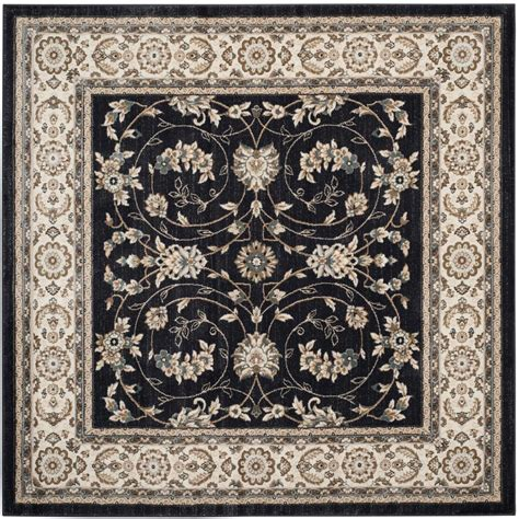 7 x 7 square area rugs safavieh lyndhurst anthracite 7 ft x 7 ft square area rug lnh340d 7sq the home depot