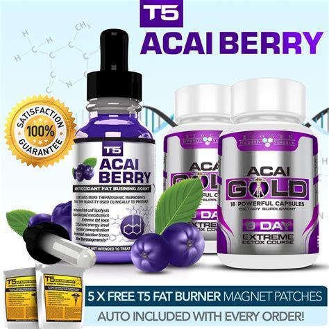 Acai Berry Detox Cleanse Pills by Acai Berry Serum Acai Gold Detox Strongest Acai