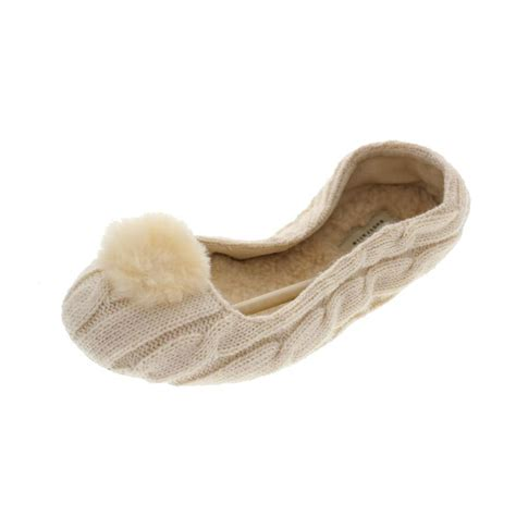 ugg ballet slippers ugg new nightengale ivory cable knit lined ballet slippers