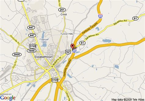 kentucky map elizabethtown map of fairfield inn elizabethtown elizabethtown