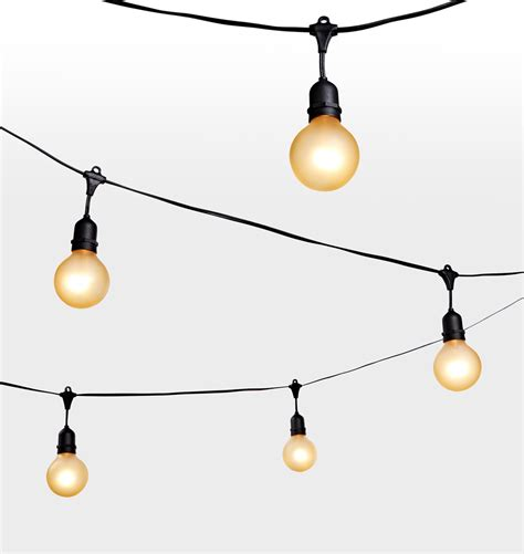 string of light bulbs outdoor 24 g25 bulb gold painted string lights rejuvenation