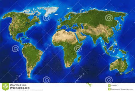 clipart mondo mappa di mondo fisica illustrazione di stock immagine di