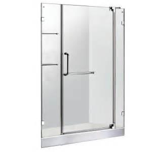 home depot pivot shower doors vigo 47 75 in x 72 in frameless pivot shower door in