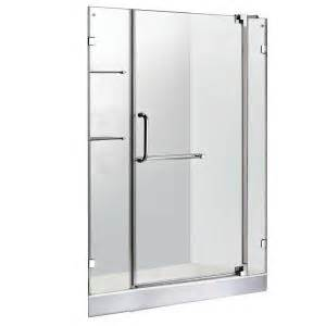 pivot shower door home depot vigo 47 75 in x 72 in frameless pivot shower door in