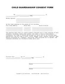 Consent Letter For Guardian child guardianship consent form hashdoc