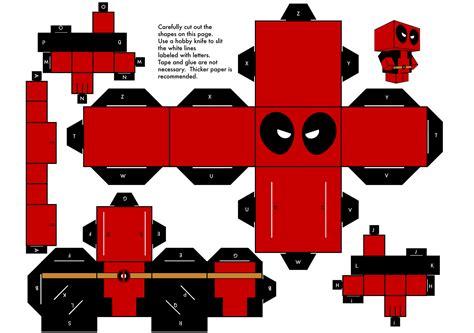 Minecraft Papercraft Deadpool - image gallery deadpool template
