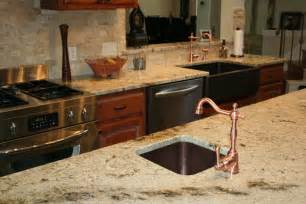 How To Install Tile Backsplash In Kitchen by Sienna Beige Granite Countertops Yelp