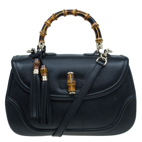 New Gucci Catur Kulit Leather Black gucci black leather large new bamboo tassel top handle bag buy sell lc