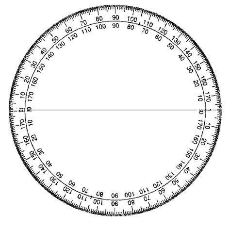 printable protractor with 360 degrees clipart best