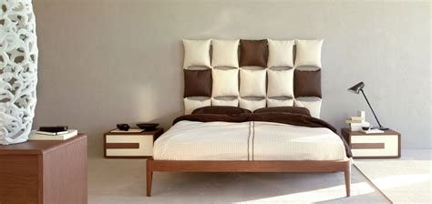 white bed with unusual and creative headboard pixel by
