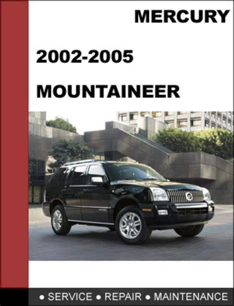 free online auto service manuals 1997 mercury mountaineer instrument cluster mercury mountaineer 2002 to 2005 factory workshop service