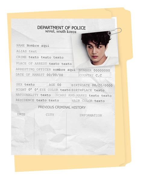 Criminal Record Template Criminal Record Template Psd By Porcelain By Itsporcelain On Deviantart