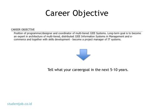 what are your career objectives the next 10 years how to write cv