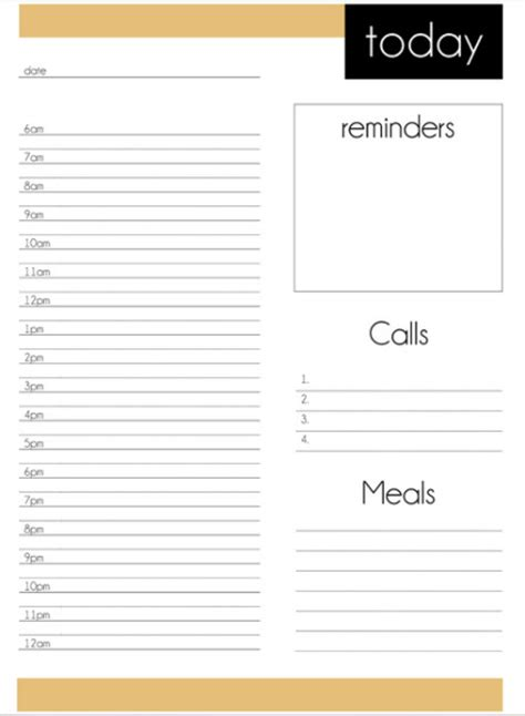 free printable daily planner template 2012 10 more free printable daily planners contented at home