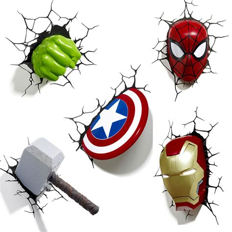 marvel avengers  wall light hulk iron man captain
