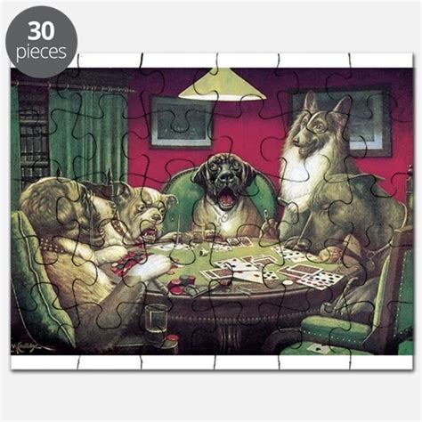 dogs playing poker puzzles dogs playing poker jigsaw