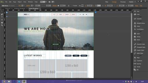 How To Use And Customize Adobe Muse Template Hoax Youtube Adobe Muse Templates