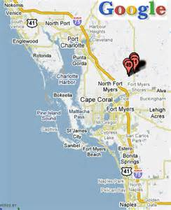 map fort myers florida area florida map ta to fort myers