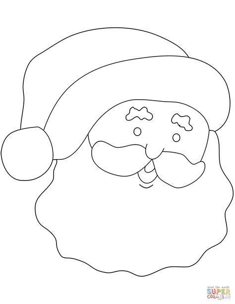 Simple Santa Coloring Page santa claus simple portrait coloring page free printable