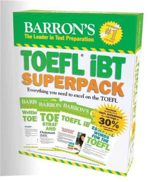 Barron S Toefl Ibt Superpack Bookalemun Book Store
