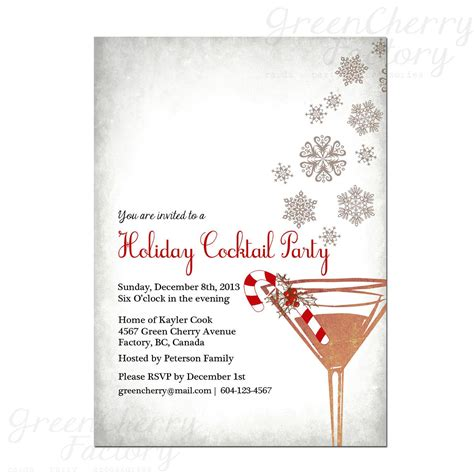 christmas cocktail party invitations cocktail party invitations party invitations templates