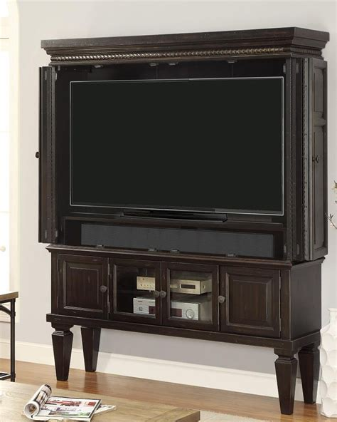 armoire television 60in tv entertainment armoire venezia by parker house phven 6160 2
