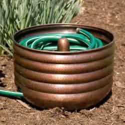 Garden Hose Pot With Lid by Hammered Copper Hose Pot With Lid Ebay