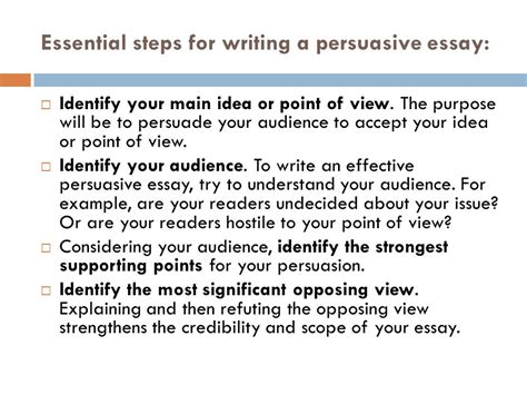 How To Write The Persuasive Essay by How To Write A Persuasive Essay With Free Exles