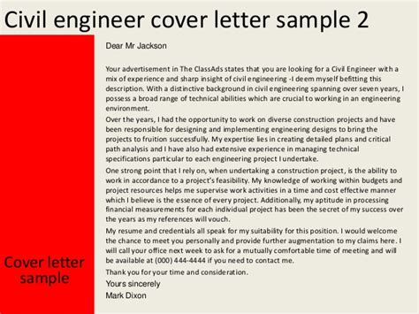 experienced engineer cover letter civil engineer cover letter