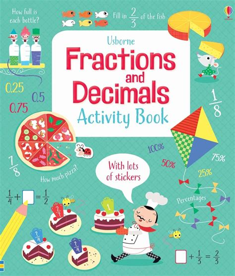 fraction picture books fractions and decimals activity book at usborne children