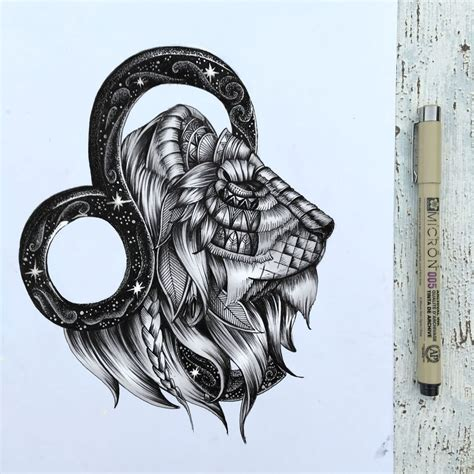 leo sign tattoo design shoutout to the leos zentangle leo zodiac