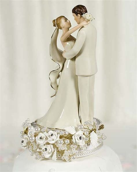 toppers for wedding cakes vintage pearl wedding cake topper wedding collectibles