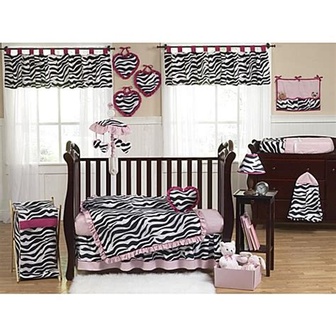 Pink And Zebra Crib Bedding Sweet Jojo Designs Funky Zebra Crib Bedding Collection In Pink Bed Bath Beyond